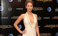 Above: Jennifer Lawrence at the premiere of 'The Hunger Games: Mockingjay — Part 1'