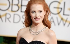 Above: Jessica Chastain on the red carpet