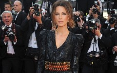 Above: Kate Beckinsale on the red carpet at the Cannes Film Festival