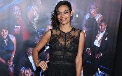 Above: Rosario Dawson at the New York premiere of 'Top Five'