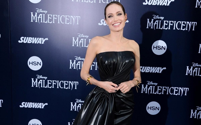 Above: Angelina Jolie on the red carpet at the premiere of 'Maleficent' in Los Angeles on May 28, 2014