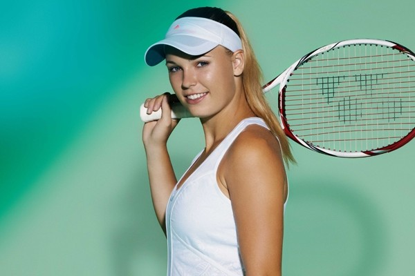 Above: Danish professional tennis player, Caroline Wozniacki