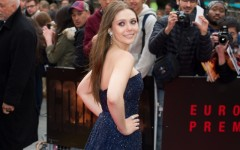 Above: Elizabeth Olsen at the European premiere of Godzilla in London, UK