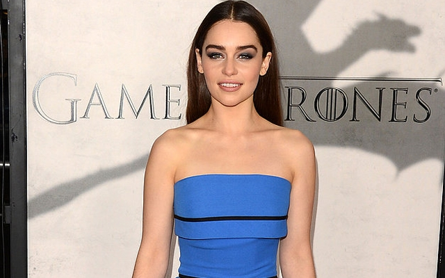 Above: Emilia Clarke on the red carpet