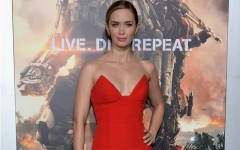Above: Emily Blunt on the red carpet for the Paris premiere for 'Edge Of Tomorrow'