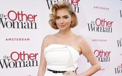 Above: Kate Upton on the red carpet at the premiere of 'The Other Woman' in Amsterdam