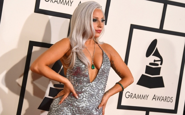 Above: Lady Gaga at the 2015 Grammy Awards