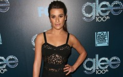 Above: Lea Michele at the 100th episode celebration of of her hit show Glee in Los Angeles