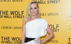 Above: Margot Robbie at the The Wolf Of Wall Street' premiere in New York City