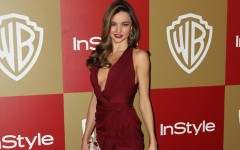 Above: Miranda Kerr on the red carpet in 2013