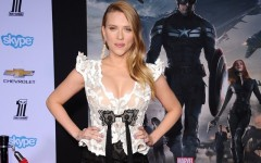 Above: Scarlett Johansson at the 'Captain America: The Winter Soldier premiere at the El Capitan Theatre in Hollywood