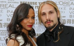 Above: Zoe Saldana's and her husband made headlines earlier this week when it was revealed that her husband Marco Perego took her last name
