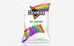 Above: Doritos is teaming up with the It Gets Better Project to bring you rainbow coloured chips