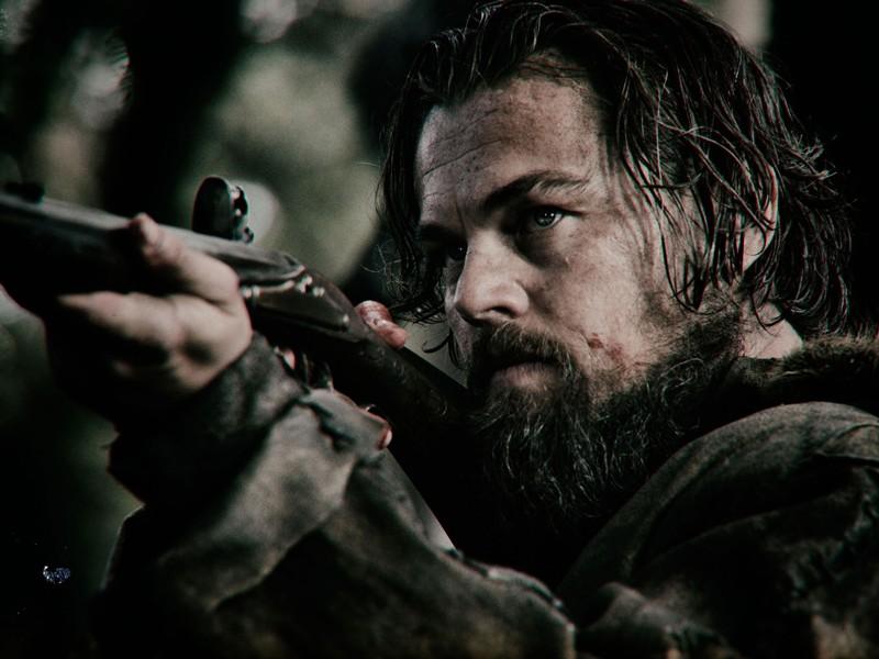 Above: Leonardo DiCaprio stars in Alejandro Gonzalez Inarritu's 'The Revenant'