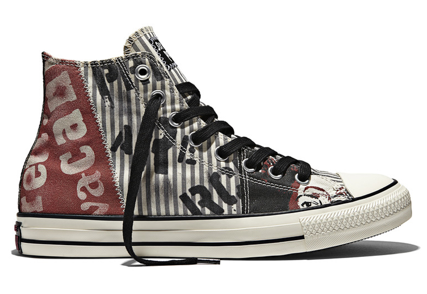 Above: A selection from the Converse spring 2015 Chuck Taylor All Star Sex Pistols Collection