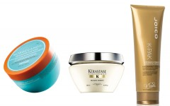 Above: Hair Masks from Moroccanoil, Kerastase and Joico