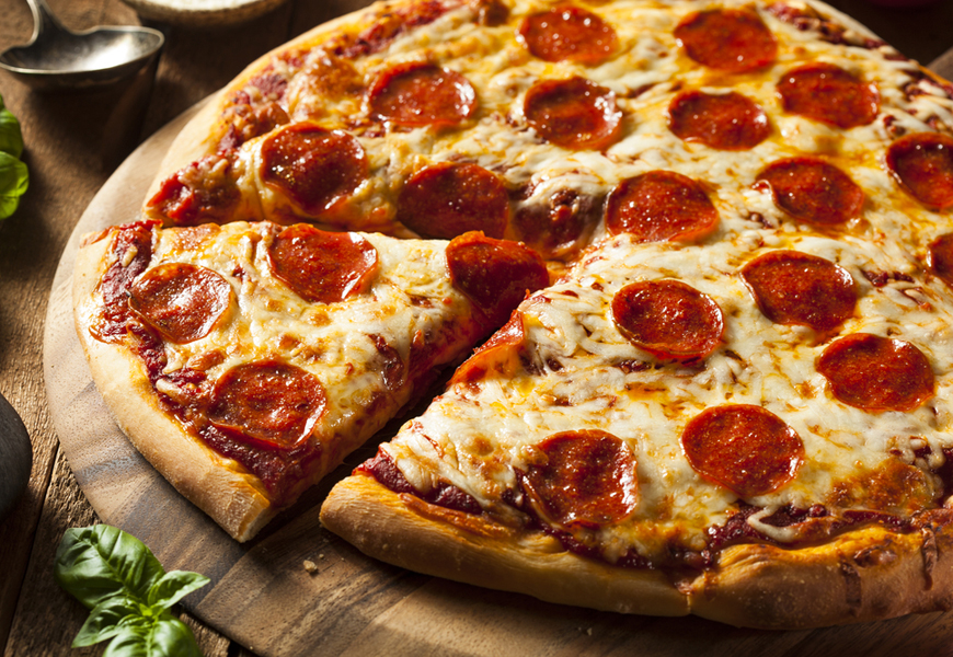 Above: Have mathematicians created the perfect way to slice a pizza?