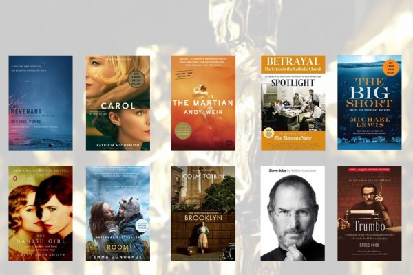 Above: Books to read before the 2016 Oscars!