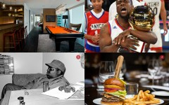 Above: 1.Thompson Penthouse 2. Kevin Hart coaches team USA for the Celebrity Game 3. Notorious BIG photo by Chi Modu 4. The Sir Charles Burger from Jump