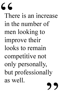 Nip Tuck Fill Why Men Are Heading To The Plastic Surgeon's Office In Record Numbers - pull quote 2