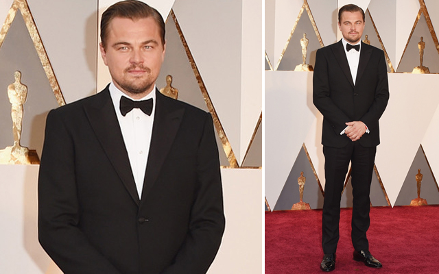Leonardo DiCaprio on the 2016 Oscar red carpet