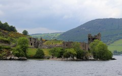 Above: Urquhart Castle sits beside Loch Ness in the Highlands of Scotland (Photo by: Tim Stewart)