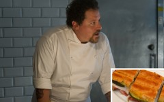 Above: Chef Star Jon Favreau has shared his very special Cuban sandwich recipe