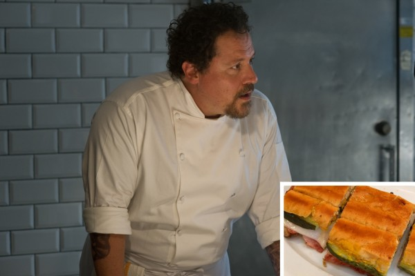 Above: Chef Star Jon Favreau has shared his very special Cuban sandwich recipe