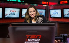 Above: Andi Petrillo, the new host of TSN Radio's Leafs Lunch (Photo courtesy: Bell Media)