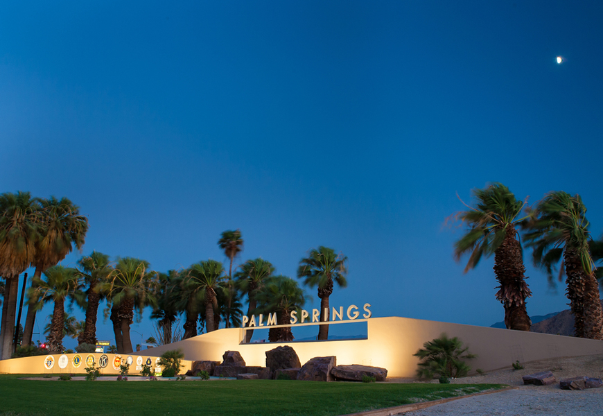 Above: The Palm Springs sign on Highway 111