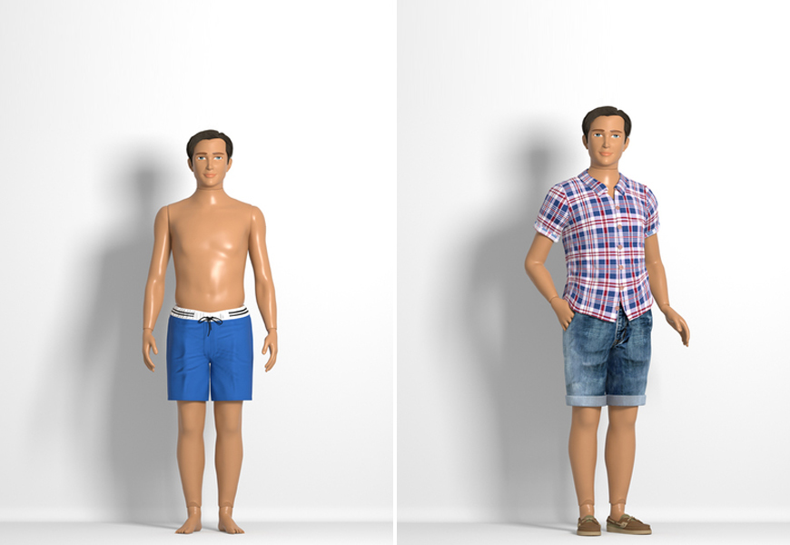 Above: The 'Normal Barbie' creator has made a dadbod 'Normal Ken' doll