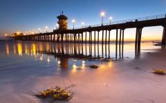 Above: The Huntington Beach Pier in Huntington Beach, California