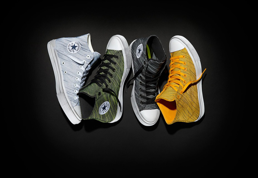 Above: The high-tops included in the Converse Chuck Taylor All Star II Knit Collection
