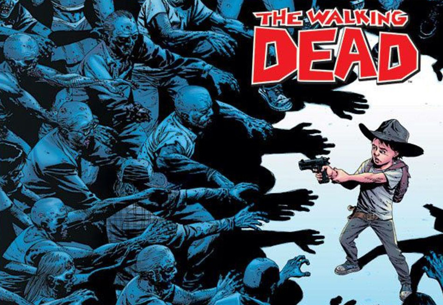 Above: There have been over 150 issues, collected into 26 volumes published of Robert Kirkman's The Walking Dead, and it's still going strong