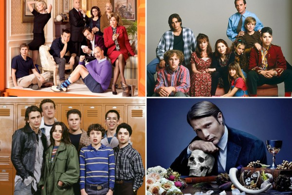 Above (clockwise): Arrested Development, My So Called Life, Hannibal and Freaks and Geeks
