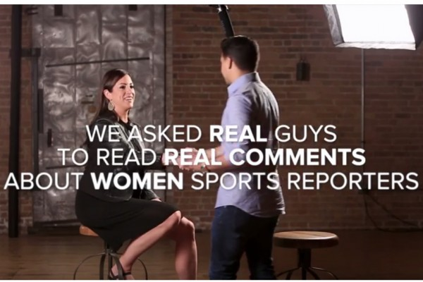 Above: A screenshot from the #MoreThanMean campaign, which highlights the harassment women in sports face on social media