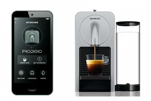 Above: Wake up and control the coffee with Nespresso Prodigio
