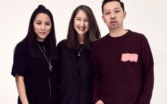 Above: Ann-Sofie Johansson with Carol Lim and Humberto Leon
