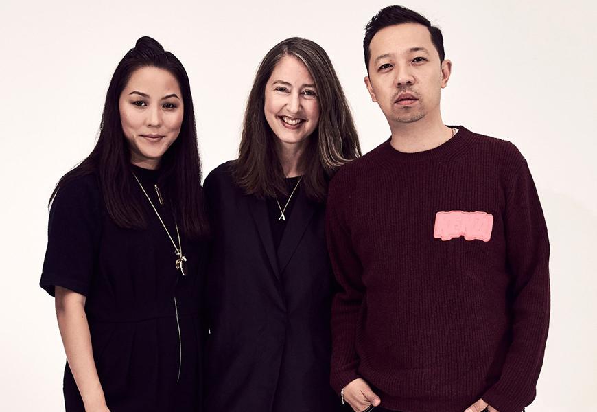 Above: Ann-Sofie Johansson with Carol Lim and Humberto Leon