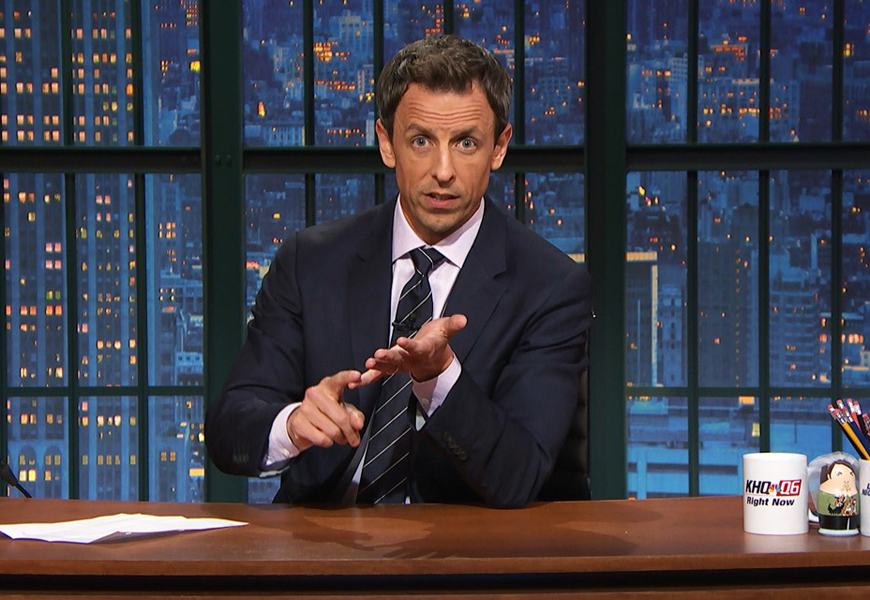 Above: Are you watching 'Late Night' host Seth Meyers? You should be...