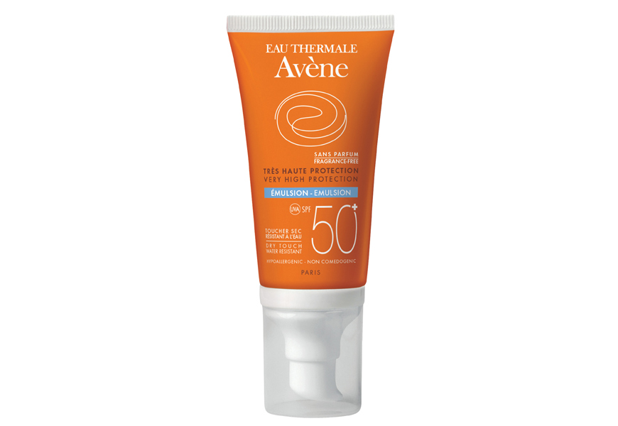 Above: Avène Eau Thermale High Protection Lotion SPF 50+