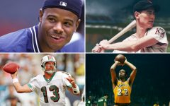 Above (top): Ken Griffey Jr. and Ted Williams/ Above (bottom): Dan Marino and Elgin Baylor