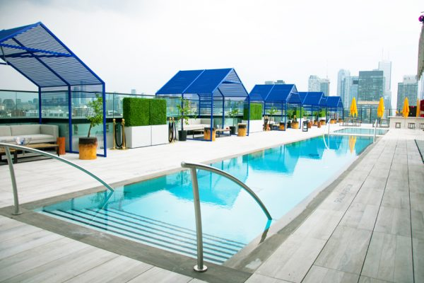 Above: Toronto's new hotspot, Lavelle. A 16,000-square-foot rooftop lounge in King West with a swimming pool