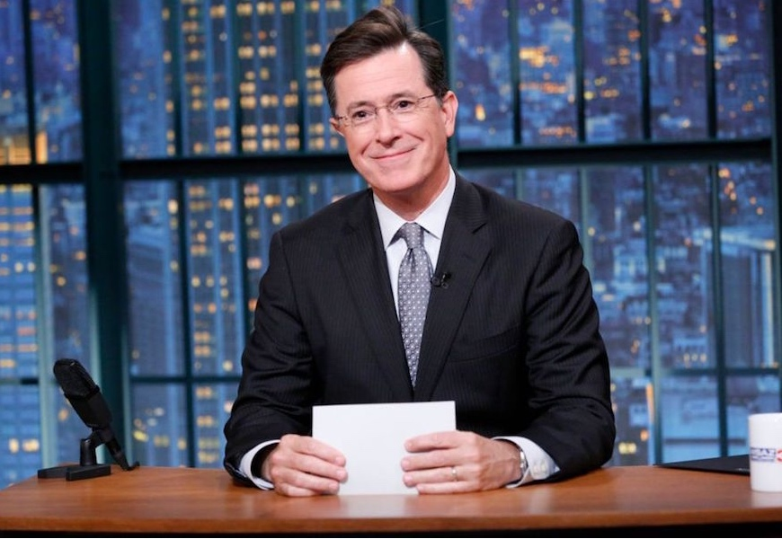 Above: Get used to the new Stephen Colbert.