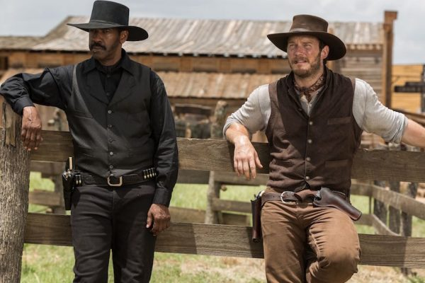 Above: Denzel Washington and Chris Pratt will star in the western reboot.
