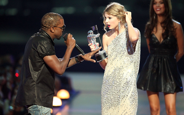 The 10 Most Memorable MTV VMA Moments In History - Kanye and Taylor