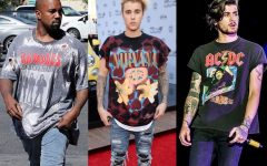 Above: Some of the biggest stars are embracing the band shirt
