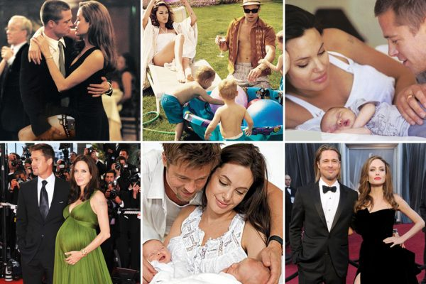 Above: Angelina Jolie has filed for divorce from Brad Pitt. Here's a look back at the Hollywood romance that captured our attention