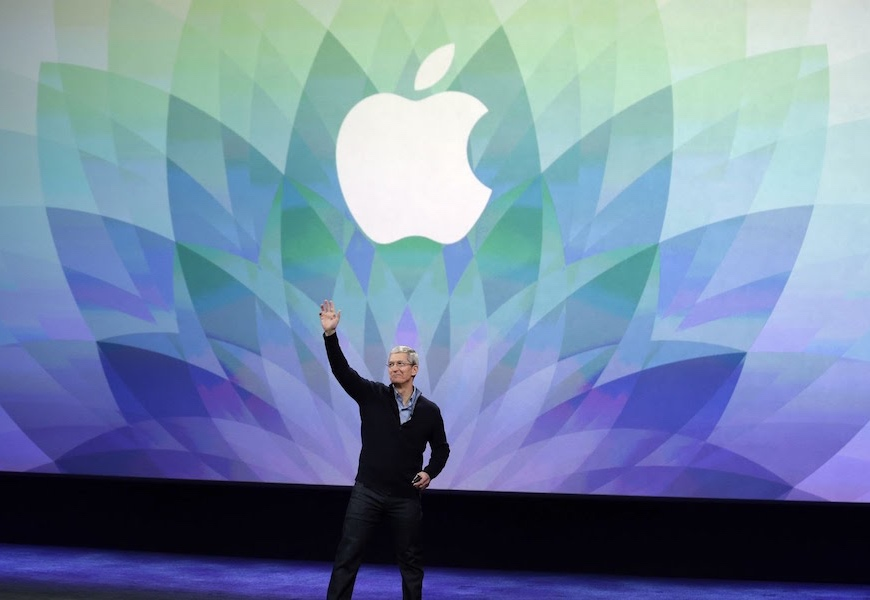 Above: Apple CEO, Tim Cook, at a previous event