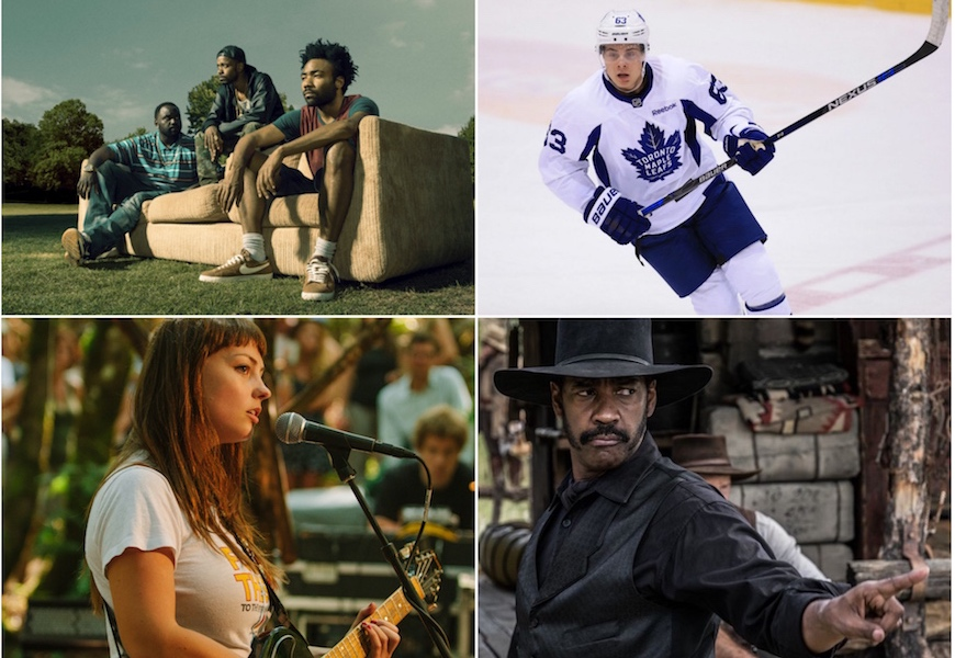 Above: 'Atlanta', the NHL preseason, Angel Olsen, and 'The Magnificent Seven' are all headed your way this month